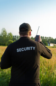 A Security Guard on Mobile Patrol